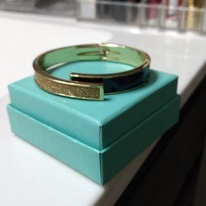 Navy blue and gold sparkles bracelet